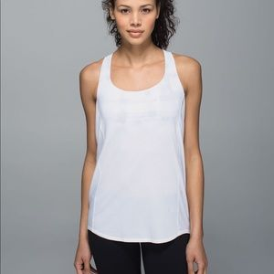 lululemon athletica Tops - Lululemon grey and white open back tank size 4